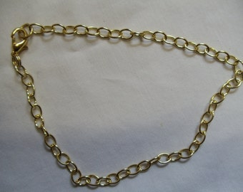 """9 3/4"""" Gold Chain Anklet with Lobster Claw Clasp"""