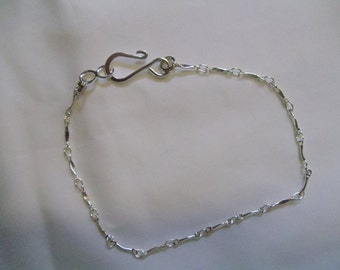 """8"""" Silver Chain Anklet"""