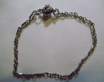 """7 1/2"""" Silver Chain Anklet"""