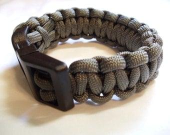 "7 1/4"" Olive Paracord Bracelet"