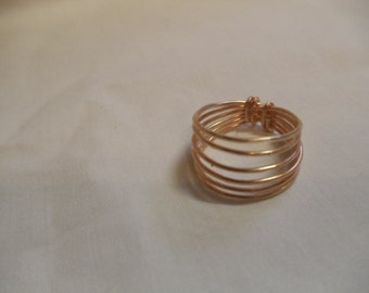 "8 1/2"" Copper Wire Wrapped Ring"