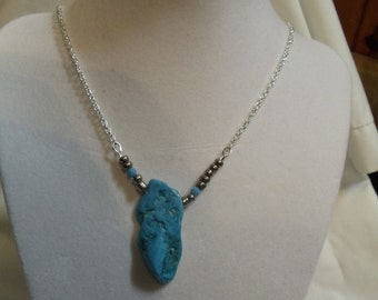 "19"" Turquoise Necklace with Lobster Claw Clasp"