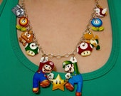 New Super Mario Bros Character Necklace