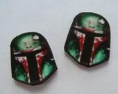 Boba Fett Stud Earrings