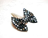 Black Silver Bow  Hair Clip Pin