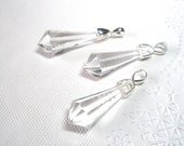Clear Prism Czech Glass Crystal Necklace Bridesmaids Jewelry, Bridal Jewelry