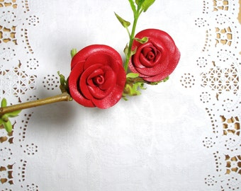 Leather Roses  Decorations