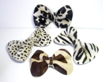 Bow Hairclip or  Belt  Bow Pin , Clip or barrette or necklace free shipping
