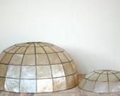 Vintage Capiz Shell Large Lampshade