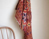 Vintage Handwoven Wool Rug Tapestry