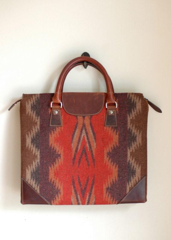 Vintage Pendleton Briefcase Bag