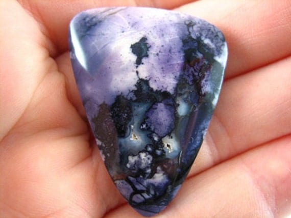 Hand Cut & Polished Bertrandite Free Form Cabochon