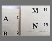 Vintage Letterpress Filing Labels
