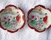 Vintage Handpainted Japanese Kutani Plates