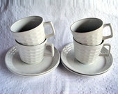 Vintage Cup and Saucer Set (4) - Keramite by Myott