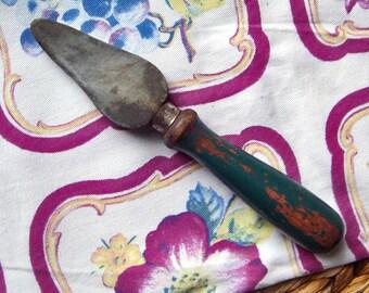 Vintage Knife Sharpener with Painted Wood Handle