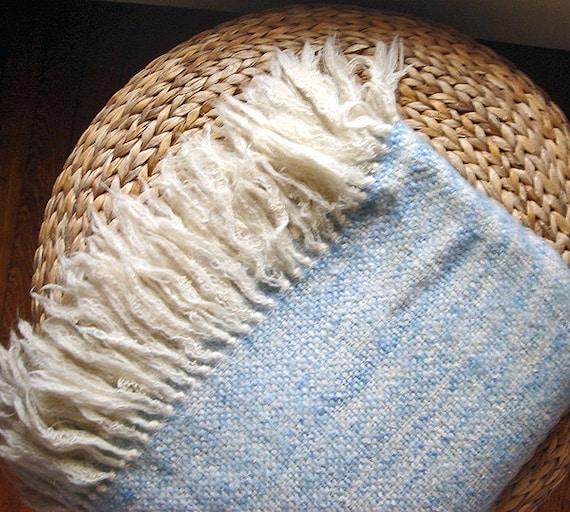 Vintage Nantucket Looms Fireside Woven Wool Throw