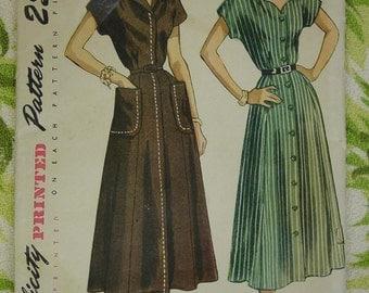 Vintage Pattern 1950's Simplicity Dress Sz.Bust 38  Uncut
