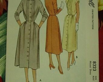 Vintage Pattern 1950's McCall No.8323 Dress Sz.14