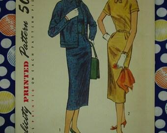 Vintage Pattern 1956 Simplicity No.1769 Dress and Jacket Sz.16