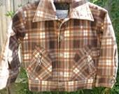 Vintage 60's Jack Jar plaid corduroy jacket in perfect condition. sz. 4