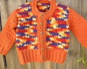 Chunky patchwork sweater for lil' Sis.