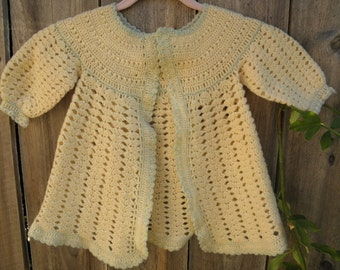 Precious 30's vintage babydoll sweater for your 12 to 18 month baby girl.