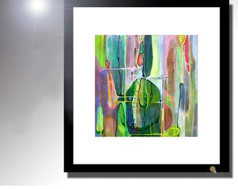 Vibrant Abstract Print 11x11