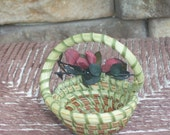 Sweetgrass S- Handle Miniature Basket