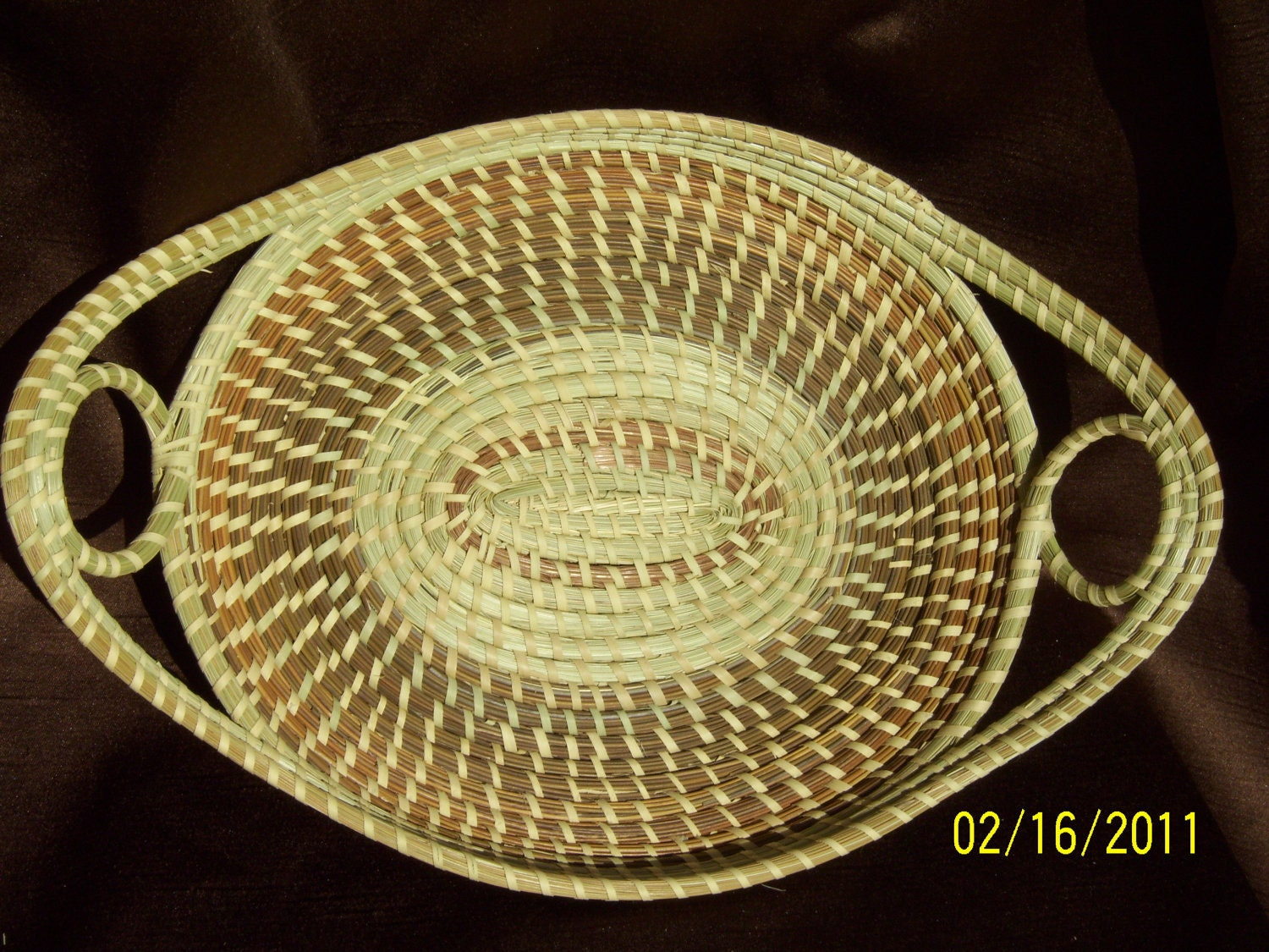 Gullah Sweetgrass Bread Basket by SweetgrassBasketry on Etsy
