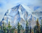 Greeting Art Card:  Mount Robson