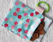 Traveling Snack Bag Metro Market  Cherries in blue   GREAT for KIDS or the Office
