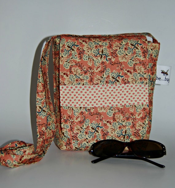 Quilted Cotton Mini Bag in Vintage Inspired Pink Prints