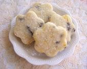 Cookies Orange Chocolate MINI Shortbread Blossoms - 3 Dozen