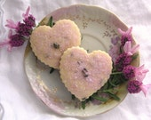 Lovely  Lavender Shortbread Cookies 1 Dozen