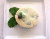 Mint Chocolate Chip Shortbread Cookies - 1 Dozen