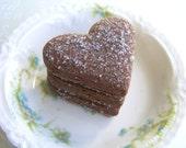 Cocoa Earl Grey Tea Cookies 1 Dozen Hearts