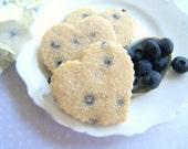 Summery Blueberry Shortbread Cookies - 1 Dozen