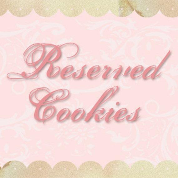 Reserved Custom WEDDING Cookie Favors Listing For - Linda Haslett