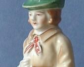 Vintage 1940's Occupied Japan Figurine, Bavarian Woodsman figurine, Japanese Porcelain figurine, Antique figurine, Austrian woodsman,