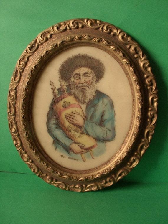 Jewish art vintage Artini engraving
