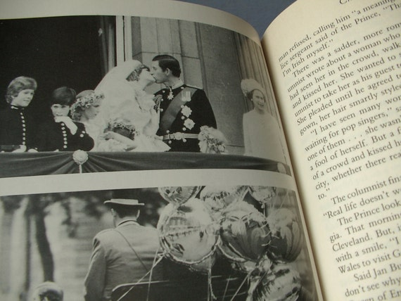vintage Charles and Diana book, 1985, Princess Diana book, photographs, Royal Family England, English history book