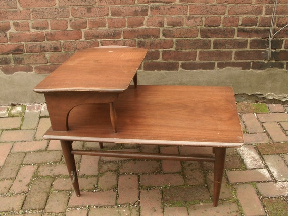 Vintage 1960 s end table Danish furniture Mid by ShoponSherman