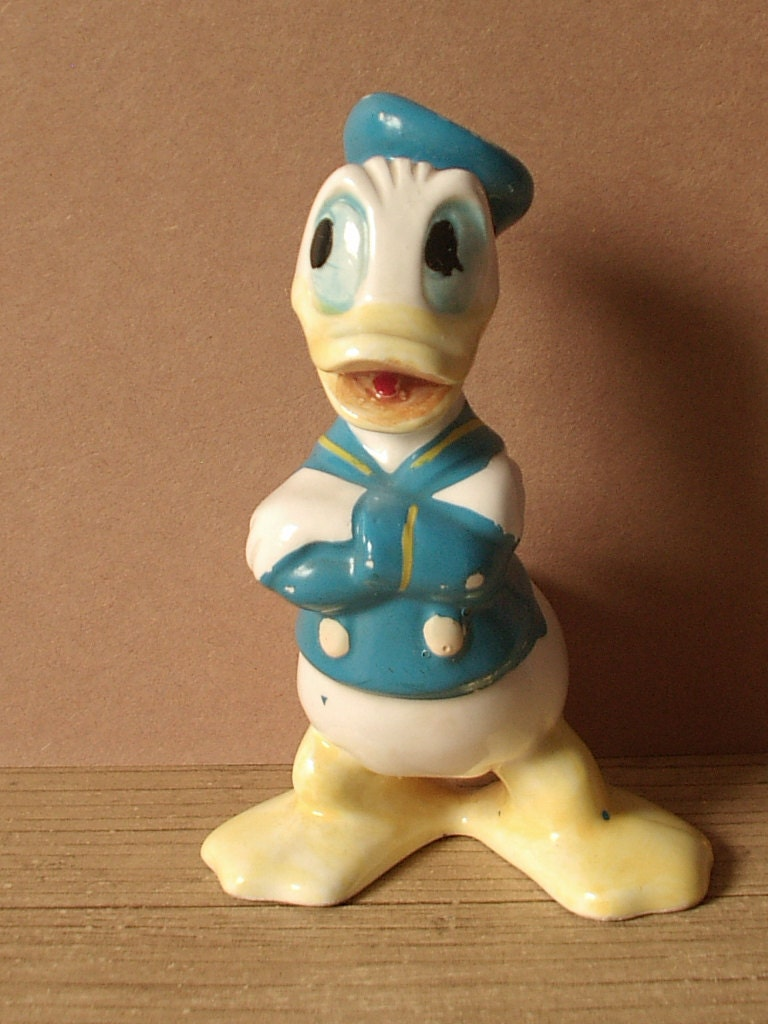 Vintage Disney Figurine Donald Duck 1950 S 1960 S By