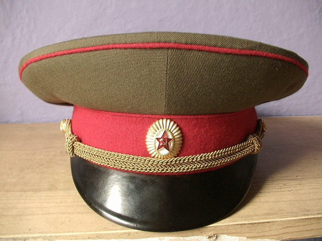 Men S Hat Cap Russian Military Army Officer Cap By