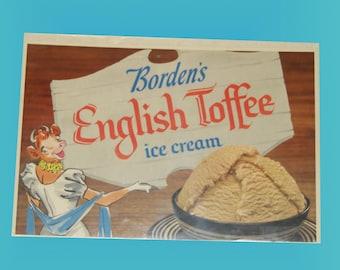 Borden's Elsie The Cow Store Ice Cream Display Poster