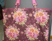 Oversized Magenta Floral Bag