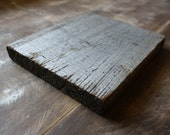 """Reclaimed Wood with Metallic Silver Paint - 7"""""""