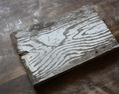 """Reclaimed Wood with Naturally Distressed White Paint - 8.75"""""""