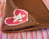 Love is Messy leather pouch